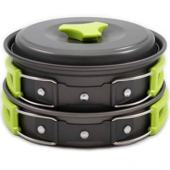 MalloMe 10 Piece Camping Cookware Mess Kit