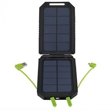 Cobra Electronics Dual Panel Solar USB