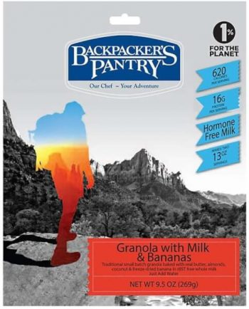 Backpackers Pantry Granola With Milk and Bananas