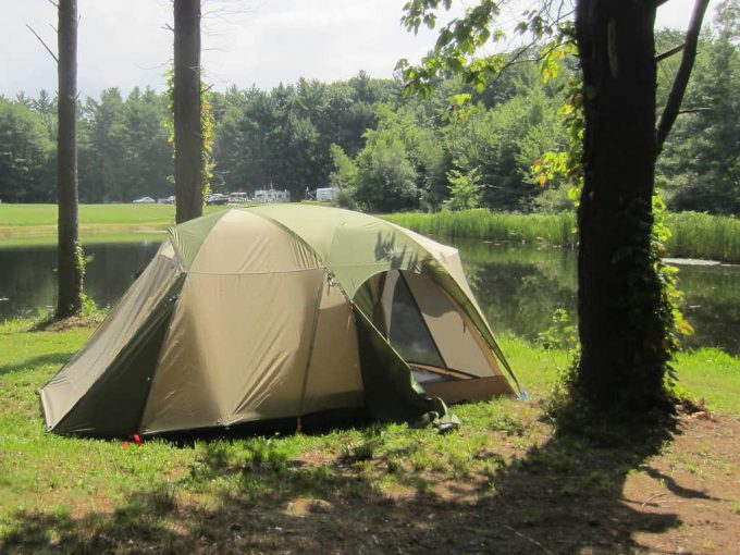 Leave no trace on tent