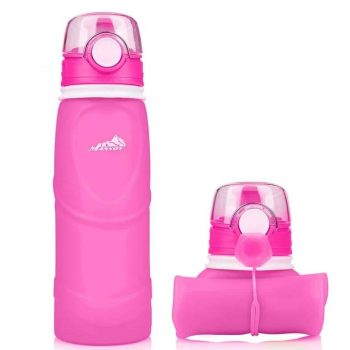 Mansov Silicone Collapsible Water Bottle