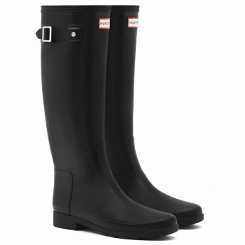 Womens Hunter Original Refined Waterproof Snow Wellingtons Rain Boots