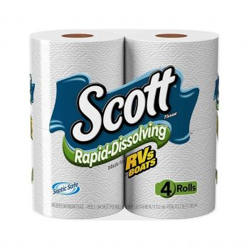 Scott Rapid-Dissolving Bath Tissue, Toilet Paper
