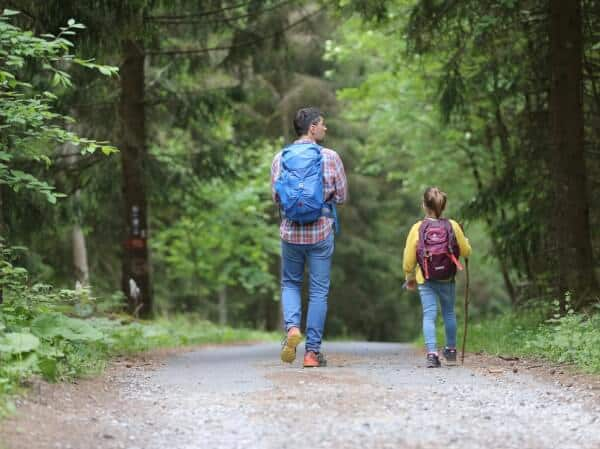 Hiking with child