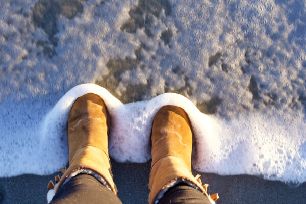 Ugg boots in water
